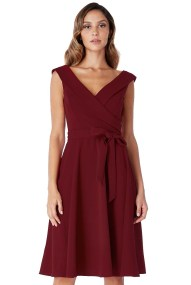 classic tailored cross over φόρεμα μπορντώ wine