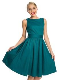 vintage classic φόρεμα Audrey πετρόλ
