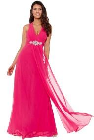 αέρινο princess maxi φόρεμα σε cerise φούξια