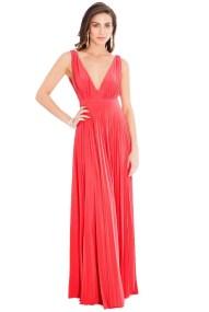 grecian goddess luxe maxi φόρεμα σε coral
