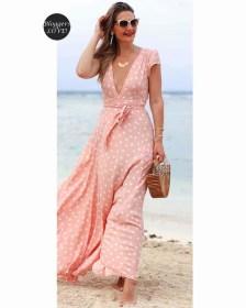 blogger romantic κρουαζέ wrap φόρεμα