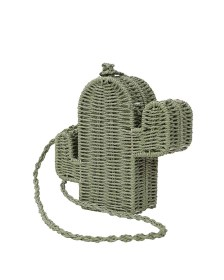 one of a kind ψάθινη τσάντα Cactus green