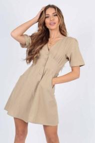 allday safari cotton mini φόρεμα Tammy
