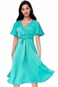 silk feel matte σατέν φόρεμα waterfall