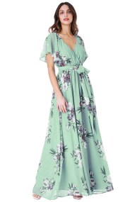romantic maxi αέρινο φόρεμα Petunia σε πράσινο