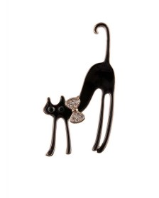 vintage καρφίτσα glam cat
