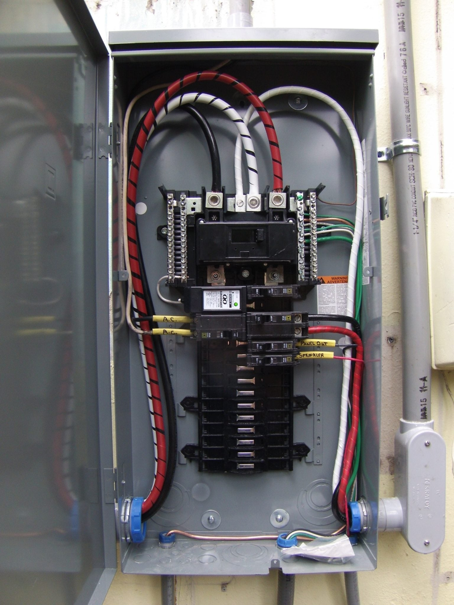 hight resolution of we have removed the mast meter fpe main and the sub feeds we have installed a new 200 amp meter can with 2 pipe and 2 0 wire for new mast