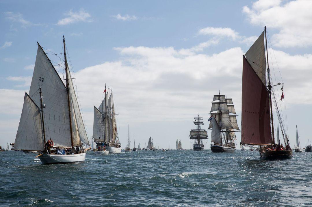Falmouth Tall Ships Parade of Sail 2014