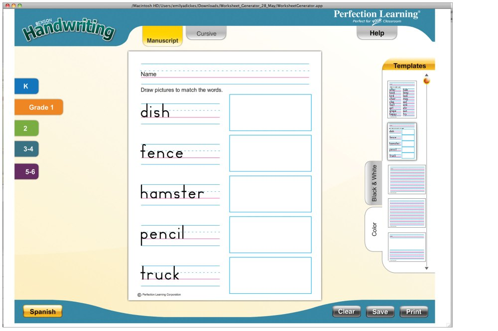 medium resolution of Benson Handwriting with Integrated Reading and Language Arts   Grades K–5    Perfection Learning