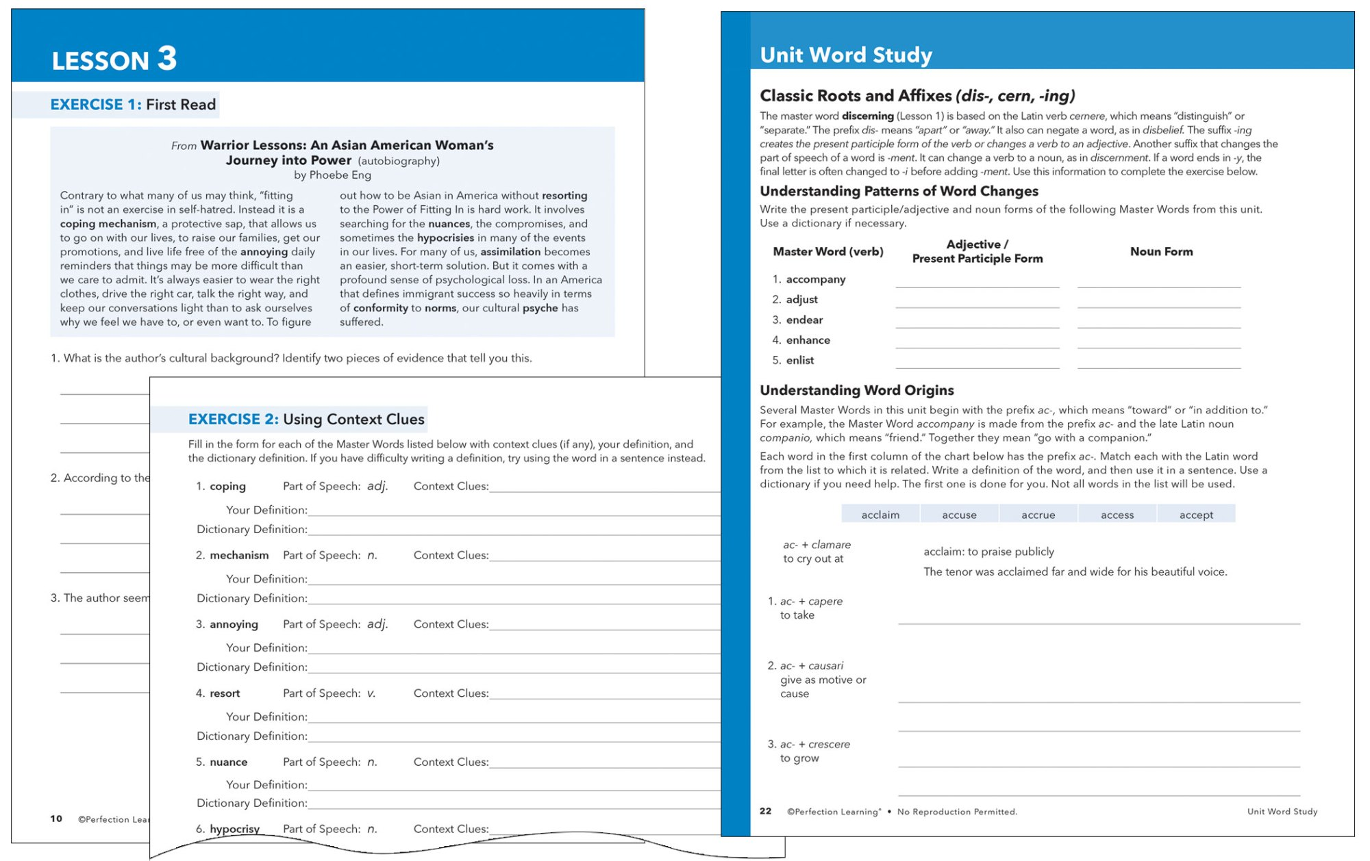 hight resolution of Vocabu-Lit®   Grades 6–12   Perfection Learning
