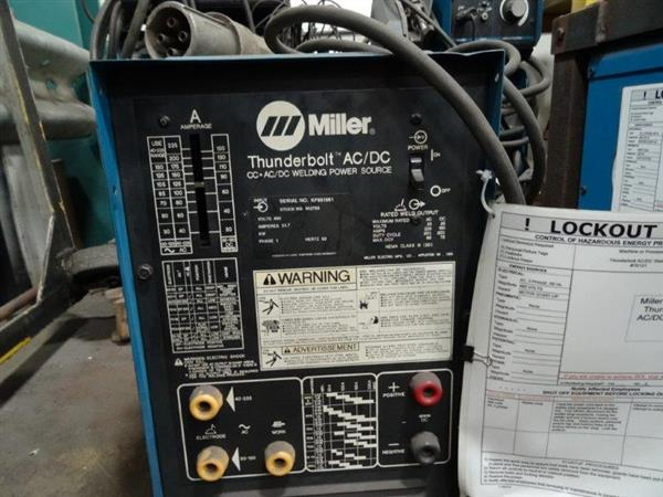 House Ac Wiring Diagram Used Miller Thunderbolt Cc Ac Dc Perfection Machinery Sales