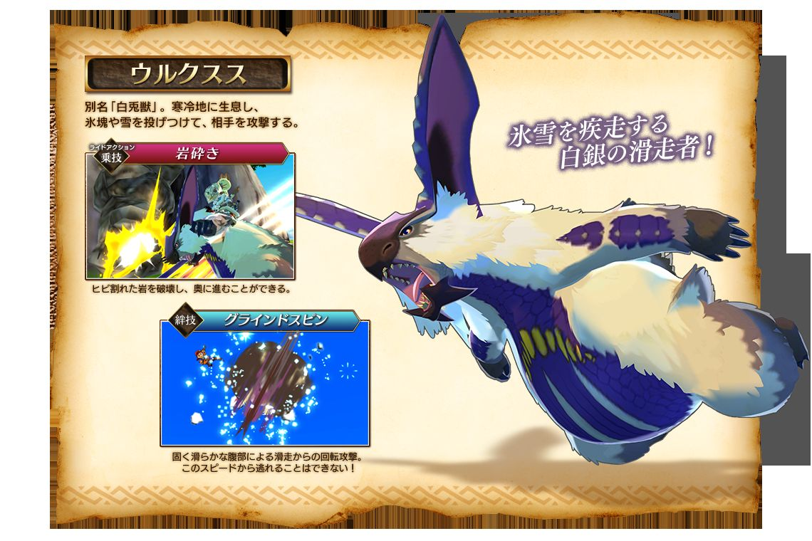 Monster Hunter Stories Ride Actions and Kizuna Moves for