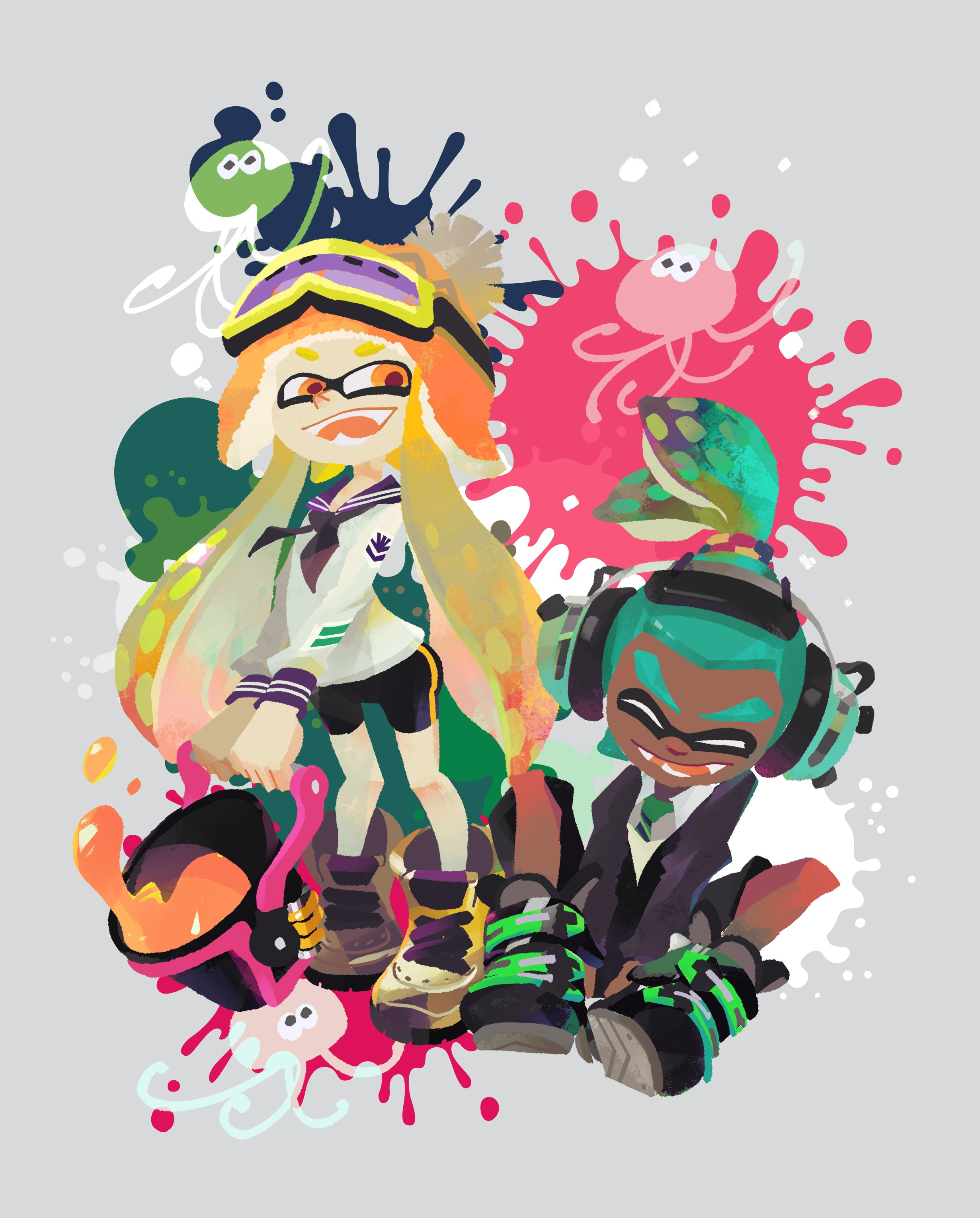 Falling Hair Haircut Wallpaper Splatoon New Weapon To Be Added In A Few Hours Rapid