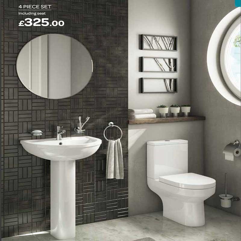 Luxury Toilet And Sink Bathroom Set Manchester Swinton Astley Worsley