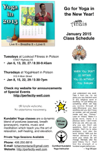 Yoga With Anais in January