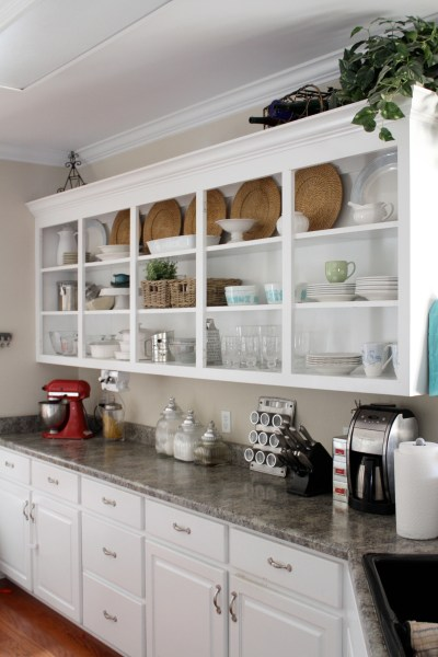open shelving kitchen cottage style | Perfectly Imperfect™ Blog