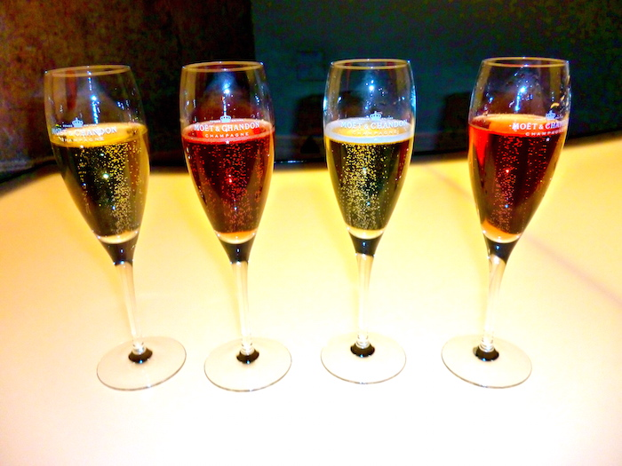 A few glasses of Champagne at the Moet & Chandon Champagne House in Epernay