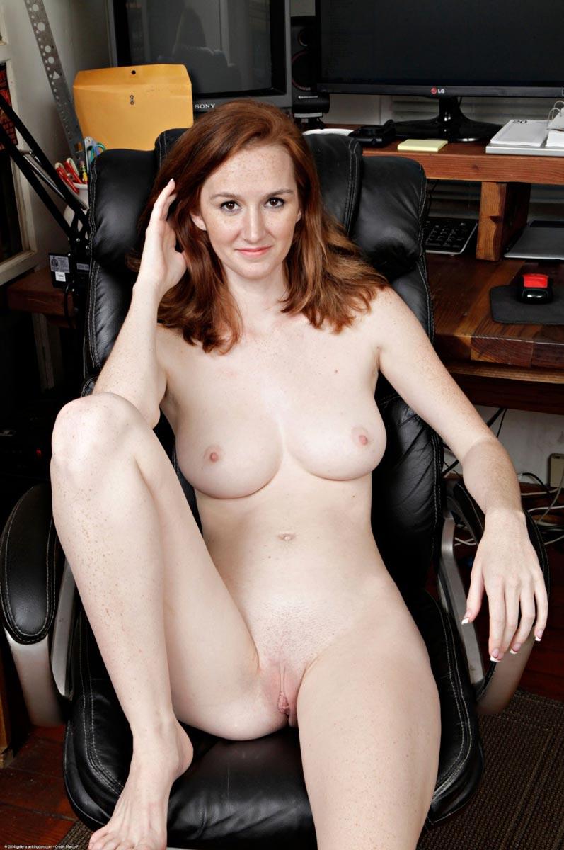 Dee Dee Lynn Strips In An Office Chair