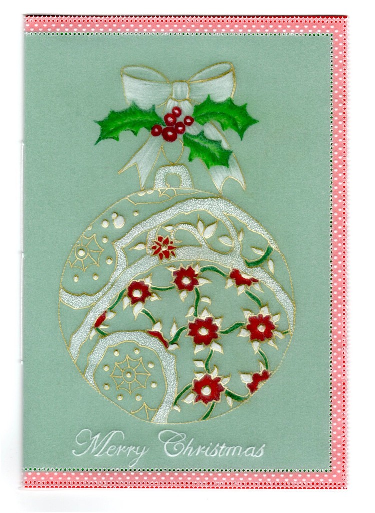 Bauble And Bow Card Pattern Download 33 Cards Card