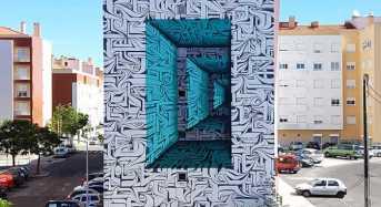 Γκράφιτι στον τοίχο κτηρίου δημιουργεί απίθανη οπτική ψευδαίσθηση!