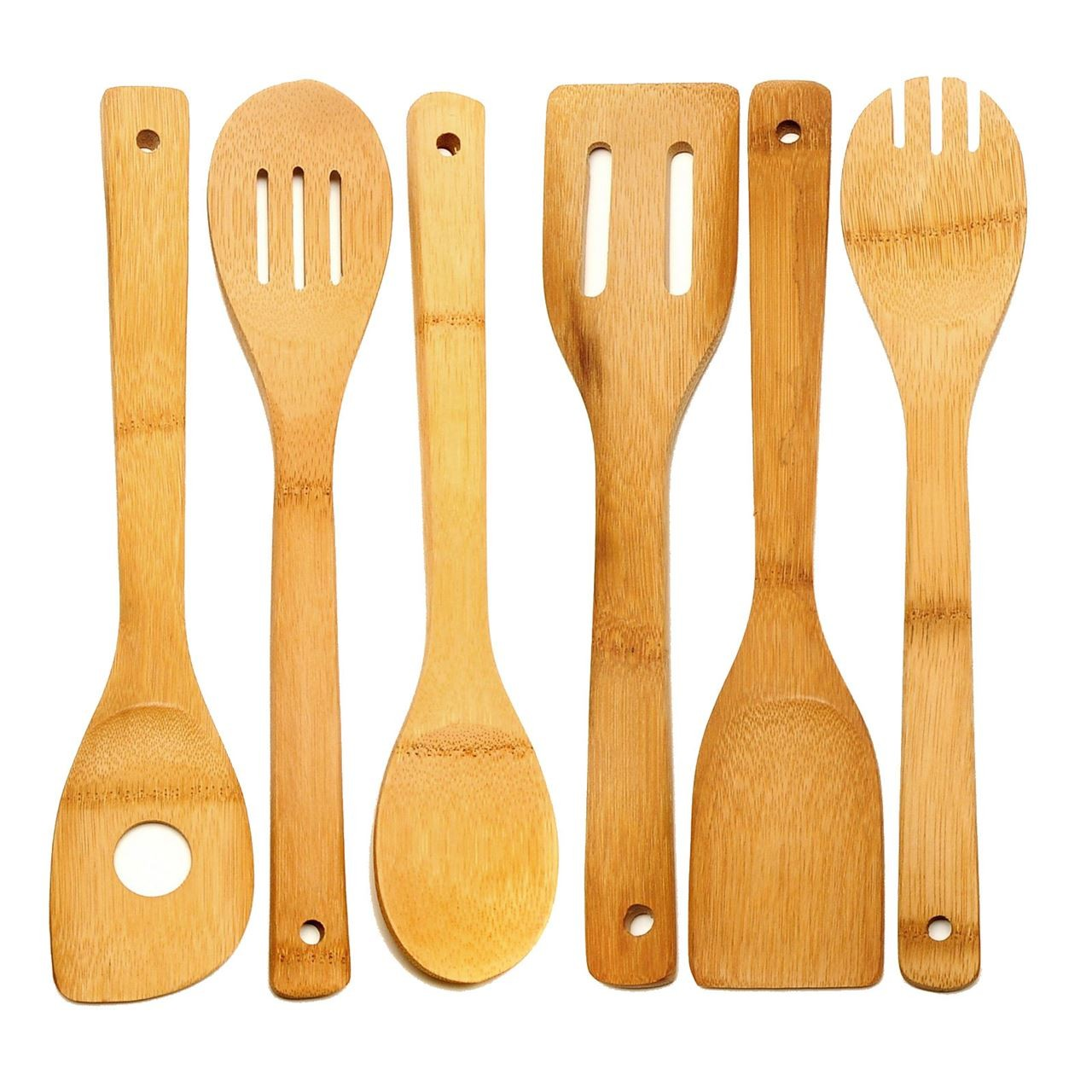 Wooden Ice Cream Sticks Taster Spoons Craft Sticks Wood Skewers Fan Handles Bamboo Kitchen Utensils Tools Pack Of 6 Specials Clearance