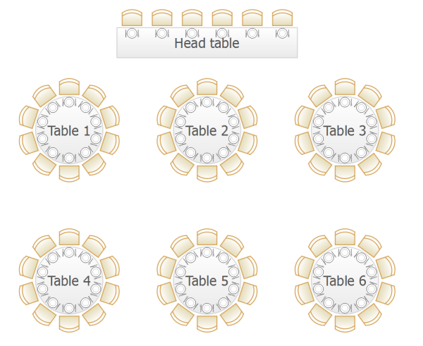 Square Banquet Table Layouts