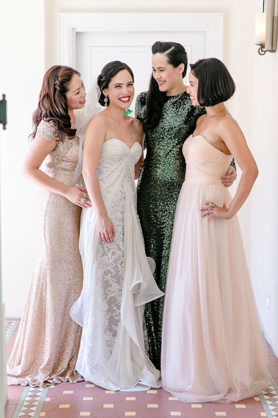 Green Sequin Bridesmaid Dress