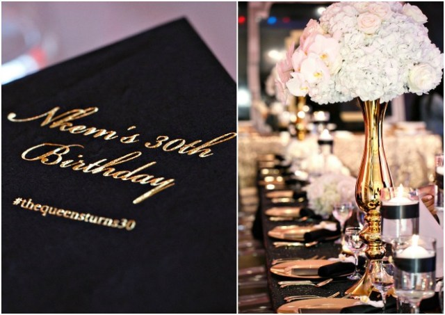 Black and Gold Party Inspiration by Amy Anaiz Photography