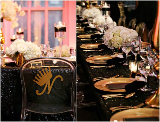 Black and Gold Wedding Party Inspiration