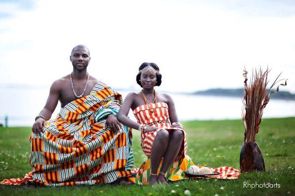 Traditional Ghanaian Couple RH Photoarts /  www.rhphotoarts.com