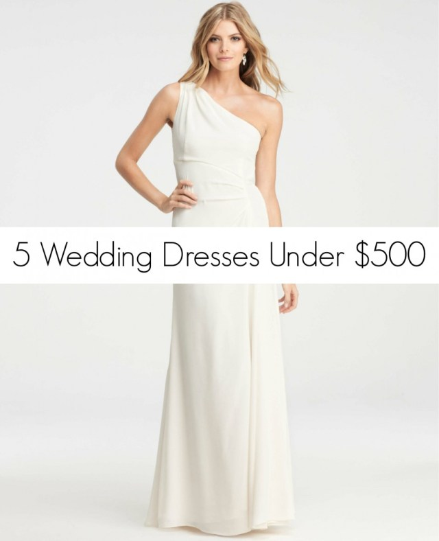 Wedding Dresses Under 500- Ann Taylor Crepe Gown