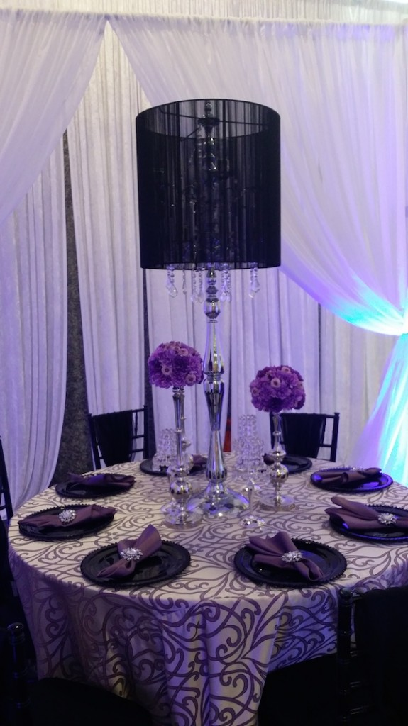 Purple and black Decor