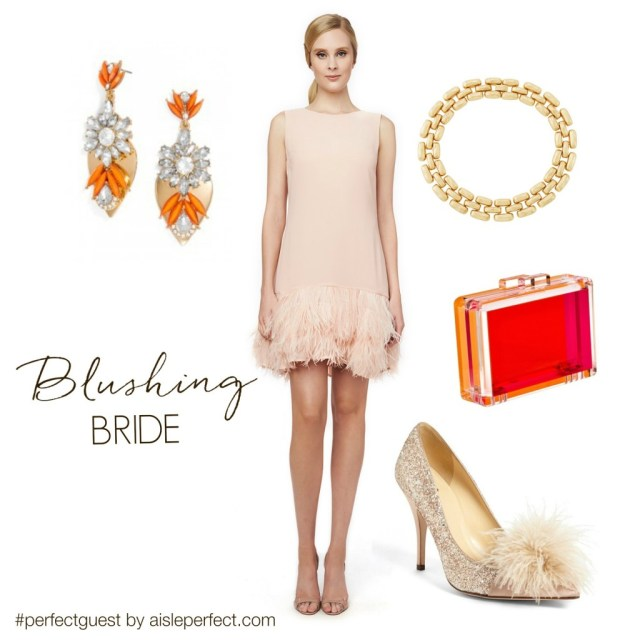 Blush Wedding Guest Outfit