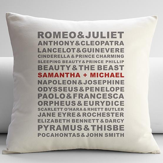 personalized famous couples pillow