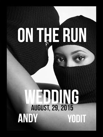 On The Run Shoot - Save The Date 3x4