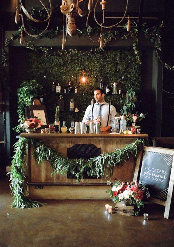 Floral Bar at a Wedding