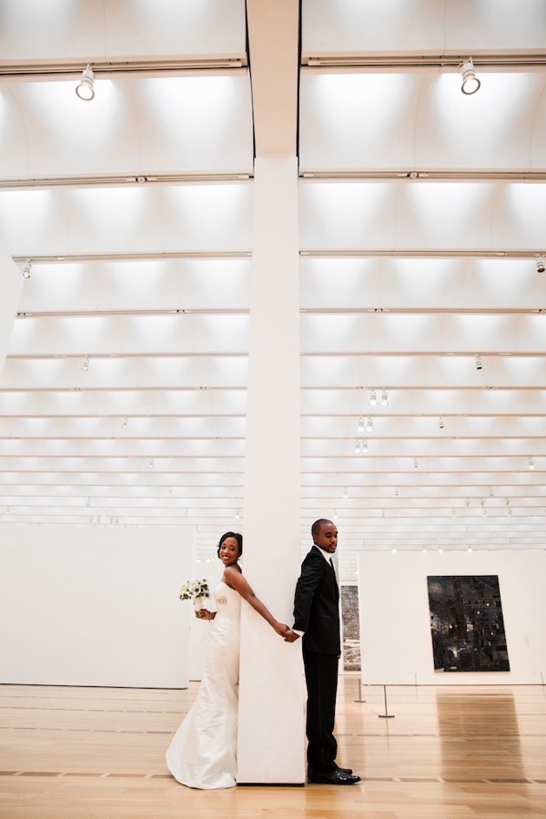 Modern Black and White Museum Wedding 23