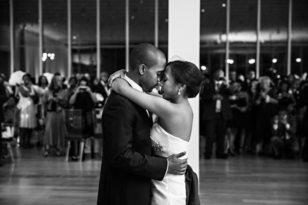 Modern Black and White Museum Wedding 58