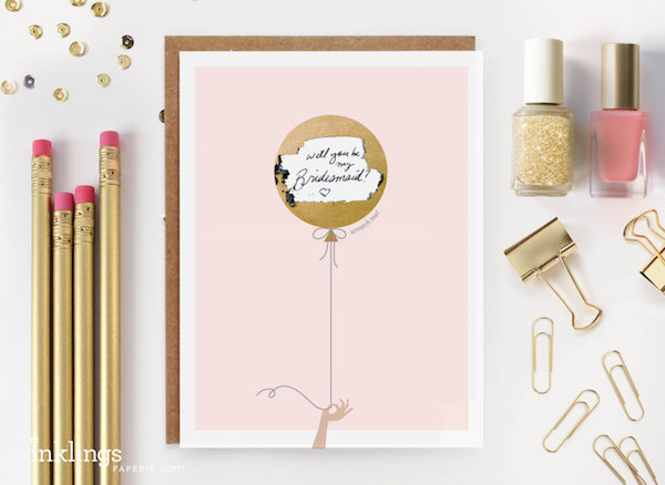 Scratch off will you be my bridesmaid card by Inklings Paperie