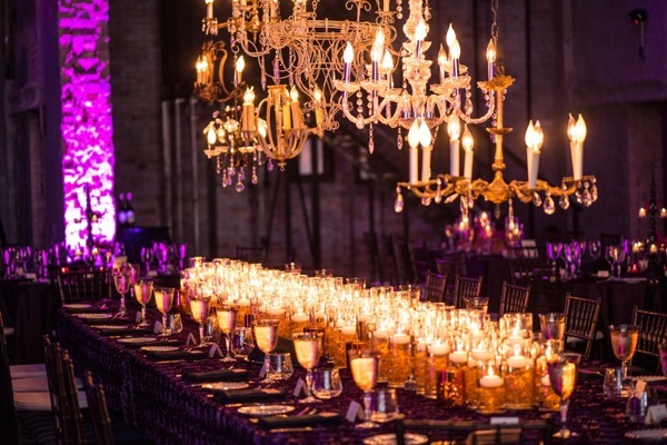 Sparkly Purple and Gold Wedding 44