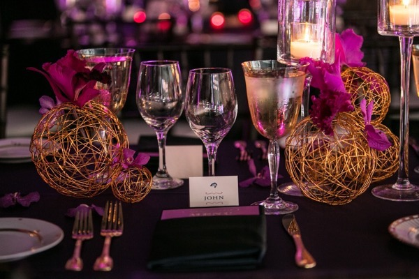 Sparkly Purple and Gold Wedding 53