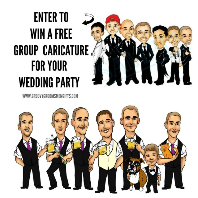 Free Group Caricature by GroovyGroomsmenGifts.com