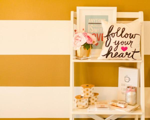 Gold and Polka Dot Home Office 5