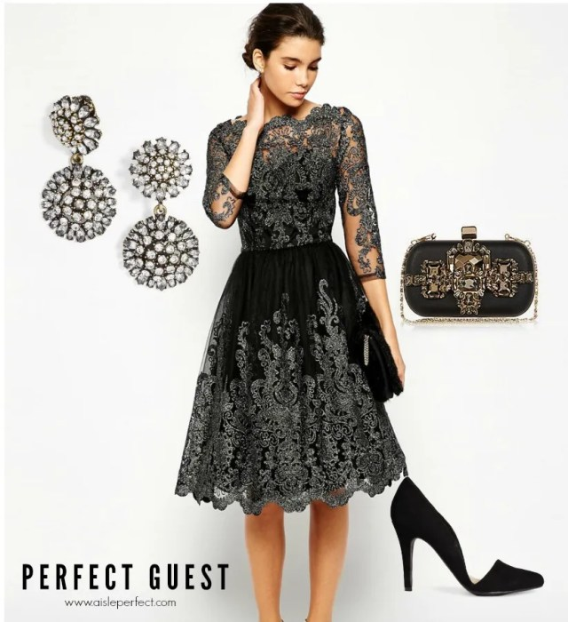 Wedding Guest Outfit for the Perfect Guest _ Metallic Lace