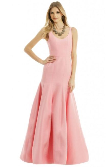 Halston Pink Bridesmaids Dress
