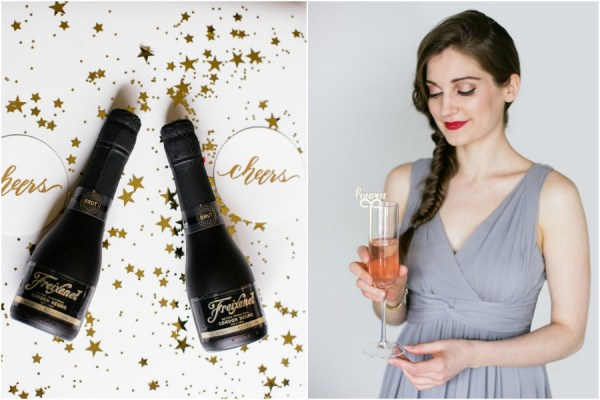 Toast to Saying YES with your Girls and Freixenet
