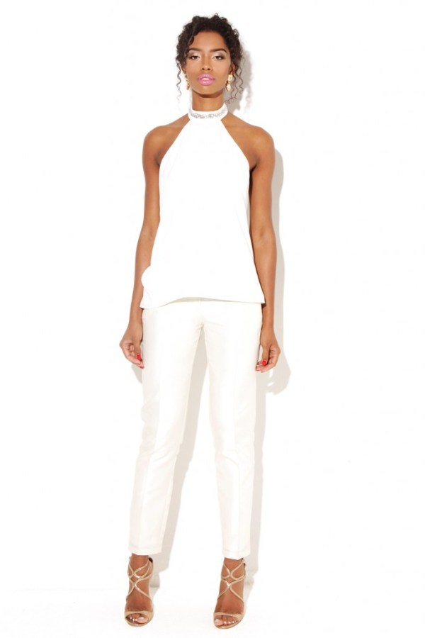 All White outfit for summer bridal shower