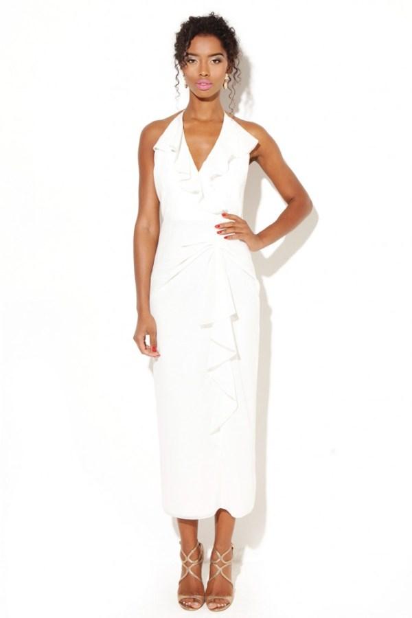 white bridal shower dress for summer