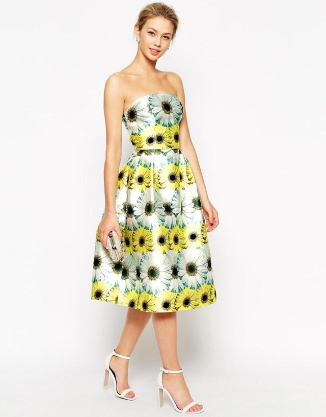 Yellow floral dress _ ASOS