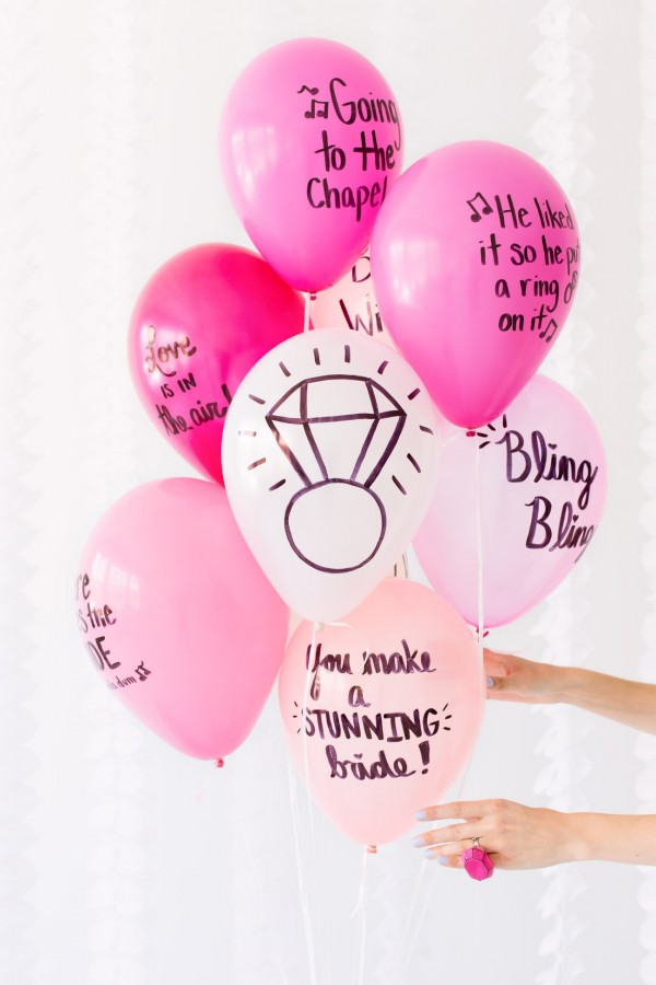 bachelorette party ballon wishes - epic bachelorette ideas via aisle perfect